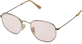 Ray-Ban RB3548N Hexagonal Evolve Photochromic Flat Lenses Sunglasses, Copper/Pink Photochromic, 51 mm