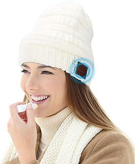 V5.0 Gorro Bluetooth, Maxjaa Gorro de Punto Inalámbrico Bluetooth con Altavoz Auriculares Sombrero Lavable con Altavoz de ...