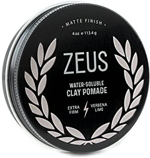ZEUS Clay Pomade for Men, Matte Finish - Paraben Free - Extra Firm Hold Styling Clay Pomade (4.0 oz)