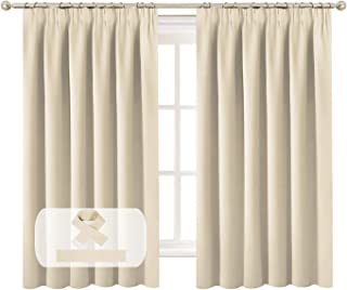 Blockout Curtains Pair for Bedroom / Living Room Blackout Thermal Insulated Curtain Draperies Bonus 2 Tiebacks, Feature Th...