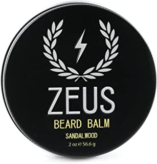 Zeus Conditioning Beard Balm for Men - 2 Oz - Natural Softening Conditioner for Facial Hair (SCENT: Sandalwood)