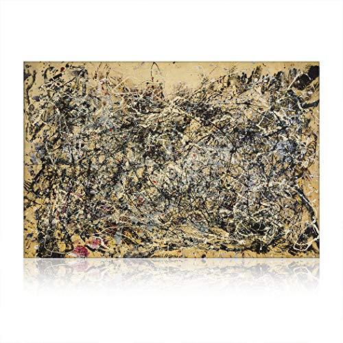 SpringFlower Wandaufkleber Jackson Pollock Premium Kunstdruck Dekoration Poster Design Modernes Wandbild Produkt Für Wohnzimmer, Schlafzimmer, Büro Wandkunst Klebstoff (A Style)