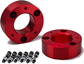 KSP Front Leveling Kit, 3 Inch Red Strut Spacer For Silverado 1500 2WD/4WD 2007-2019, Sierra 2WD/4WD 2007-2019, Aircraft B...