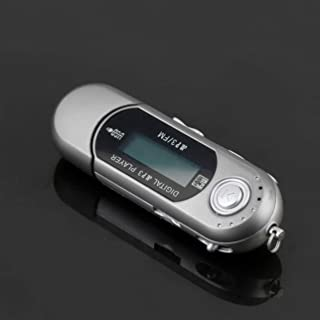Mini USB 2.0 Flash Drive High Speed Transfer LCD Display MP3 Music Player Backlight on LCD Providing Clear Display - Silver
