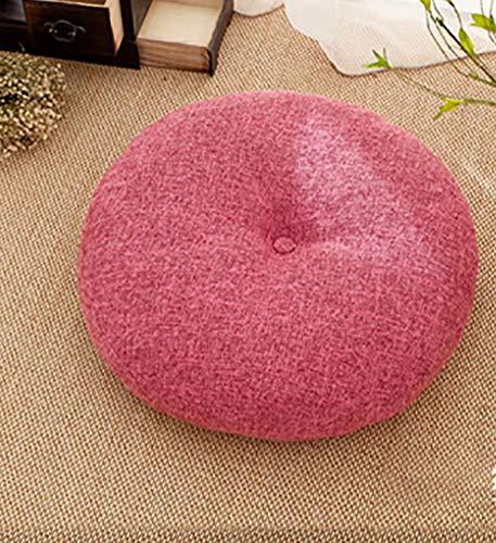 Cojín Redondo de Tatami para Ventana salediza, cojín Transpirable de Lino extraíble y Lavable, Utilizado para la Sala de Estar de la Oficina del jardín al Aire Libre(50 cm de diámetro)