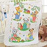 Herrschners Little Farmers Baby Quilt Stamped Cross-Stitch Kit
