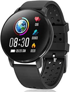 Waterproof Activity Tracker IP68 CatShin CS06 Fit Smart Watch with Heart Rate Monitor Sleep Blood Preasure Fitness Tracker Watch Band Calorie Counter Pedometer for Men Women Kids Android IOS