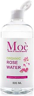 500 ml de agua de rosas orgánica de Moè, producto 100%