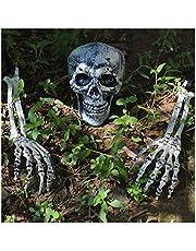 أوتاد الهيكل العظمي بمظهر واقعي من جوين، مساحات العشب في الفناء، قطع الأرض لأفضل ديكورات فناء الهالوين