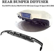 JC SPORTLINE F06 F12 F13 M Tech M6 CF Diffuser, fits BMW 6 Series F06 F12 F13 640i 650i M Sport M6 2D 4D 2012-2018 Carbon Fiber Rear Bumper Lip Spoiler Cover Guard Protector