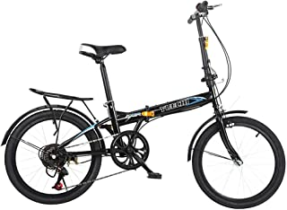 Leisure 20in 7 Speed ??City Folding Mini Compact Bike Bicycle Urban Commuters
