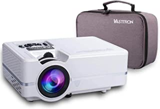 """Vasttron Home Video Projector with Carrying Case and Tripod, 3200 Lux LED Mini Projector with 170"""" and 1080P Support, Compatible with PS4, TV Sticks, PCs & Smartphones for Movie Theater and Gift"""