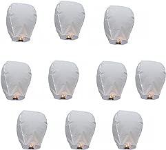 A2Z, Premium WHITE Sky Lantern Flying Candle for Festivals Diwali/Christmas/Wedding (Pack of 12)