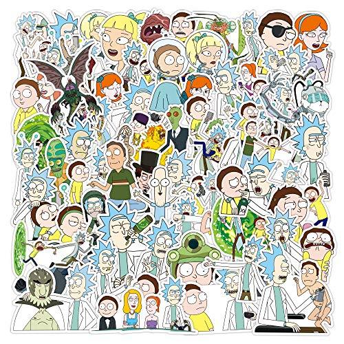 WayOuter Aufkleber Rick und Morty PVC Wasserdicht Vinyl Stickers Decals für Laptops, Autos, Motorräder, Tragbares Gepäck (100)