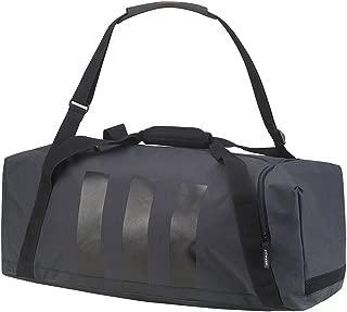Adidas 3 Stripes Medium Duffle Bag (One Size) (Dark Grey/Black/Scarlet)
