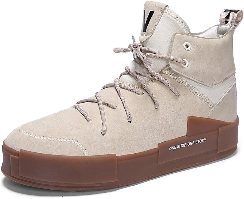 GLSHI Men Fashion Sneakers Autumn Winter Hip Hop Street Dance shoes Lightweight High Top Running shoes