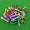 """Crestgolf Professional 2 1/8"""" Deluxe Wood Golf Tees 100pcs(Mixed Color)"""