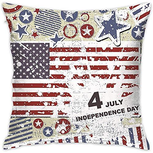 July kussenovertrek American Elements Independence Day kussenslopen kussenslopen voor bank slaapkamer auto stoel