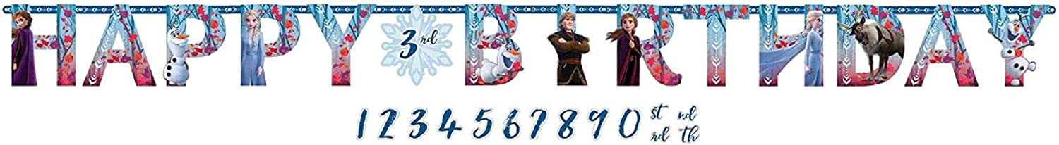 Happy Birthday Frozen 2 Birthday, Add-An-Age Party Letter Banner