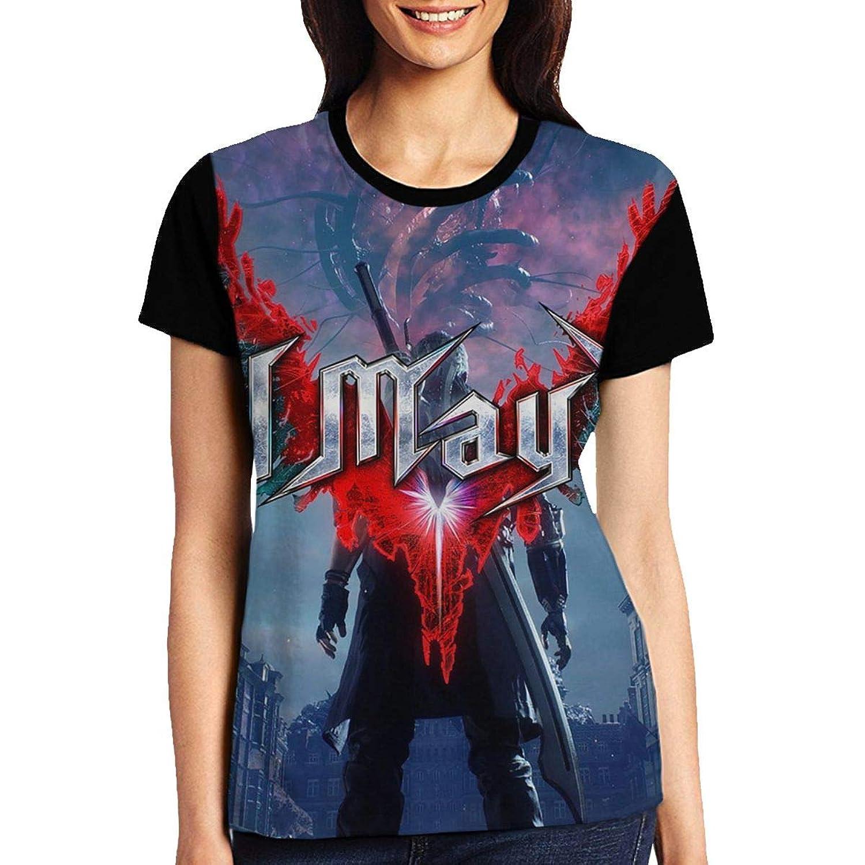 デビル メイ クライ 5 Devil May Cry5 レディース ファッション トップス 半袖 Tシャツ 夏 春 ゆったり シンプル