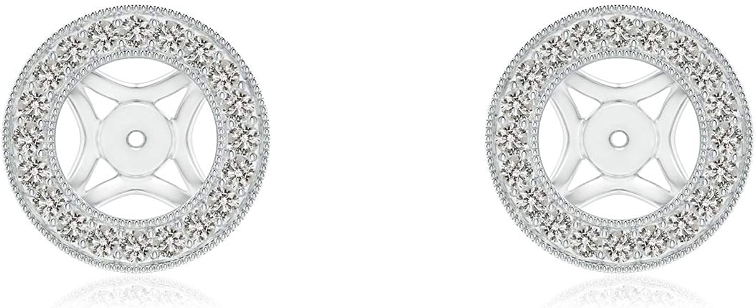 1/4 Cttw Classic Diamond Removable Halo Earring Jackets for 5mm Round Studs