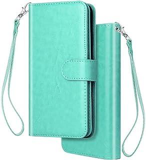 Felfy [9 kortplatta] kompatibel med Huawei P20 Lite fodral PU läder multifunktionell plånbok läderfodral [stativfunktion] ...