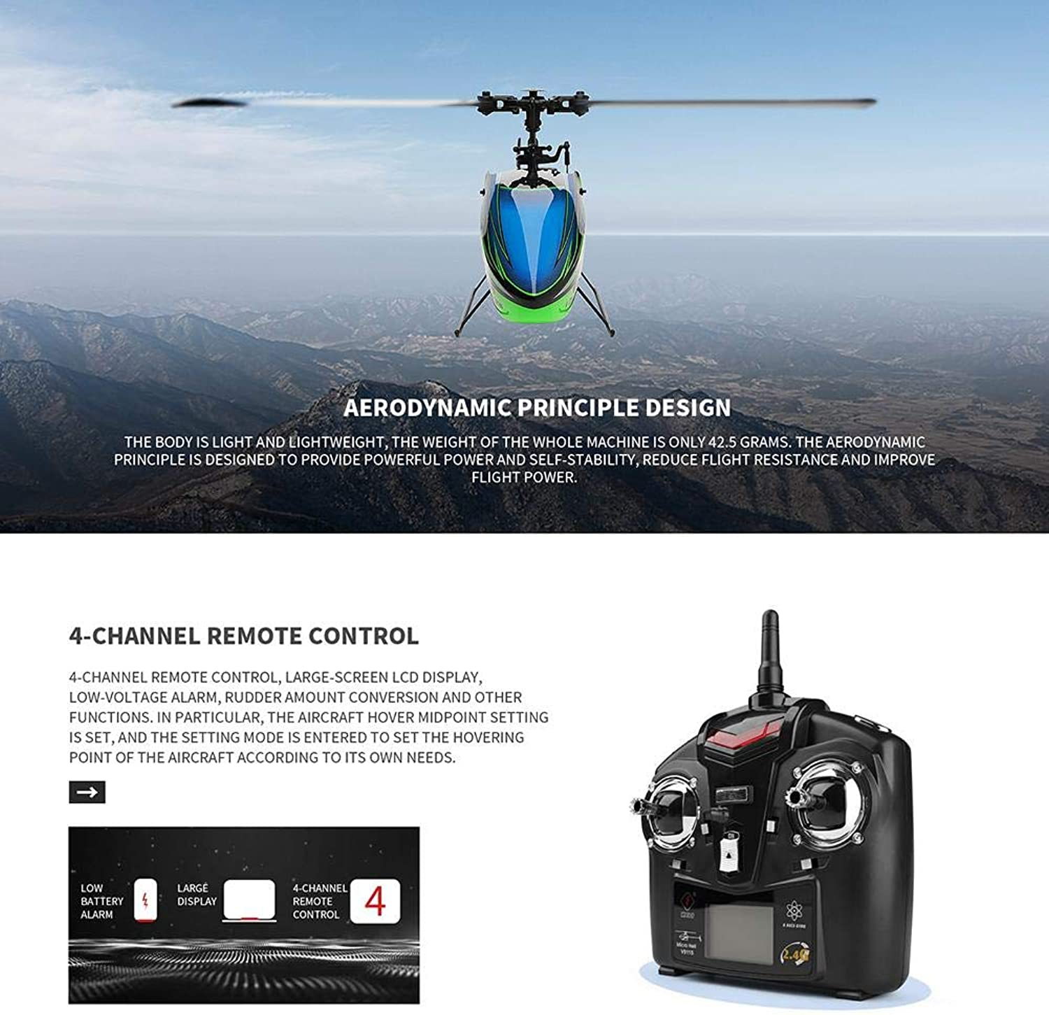 Longshow RC airplane  WLtoys V911S 2.4G 4CH RC Helicopter Aircraft FourWay SinglePropeller Without Aileron Aircraft 6Axis Gyroscope