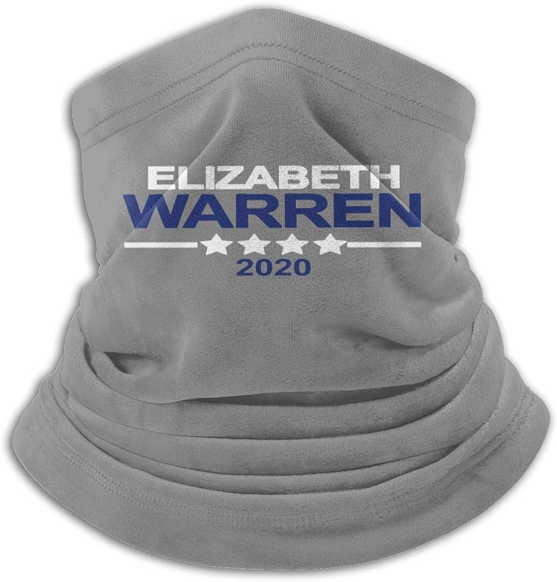 Elizabeth Warren Black Multi-function Neck Warmer Gaiter Polyester Neck Warmer Windproof Winter Neck Gaiter Cold Weather Scarf For Men Women