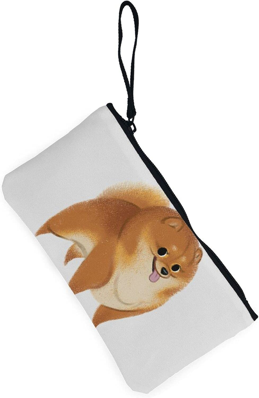 AORRUAM Dog Anima Pet Canvas Coin Purse,Canvas Zipper Pencil Cases,Canvas Change Purse Pouch Mini Wallet Coin Bag