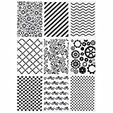 9 Pieces Plastic Embossing Folders, Template Craft Card Making, Embossing Folder DIY Craft Stencil for Photo Album Craft Decoration Handmade DIY Scrapbook Flower Card Making Supplies(Classic Style)
