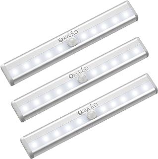 OxyLED Sensor luz del armarioLED luz del armariobajo el armariofunciona con batería de iluminación con tira magnética p...