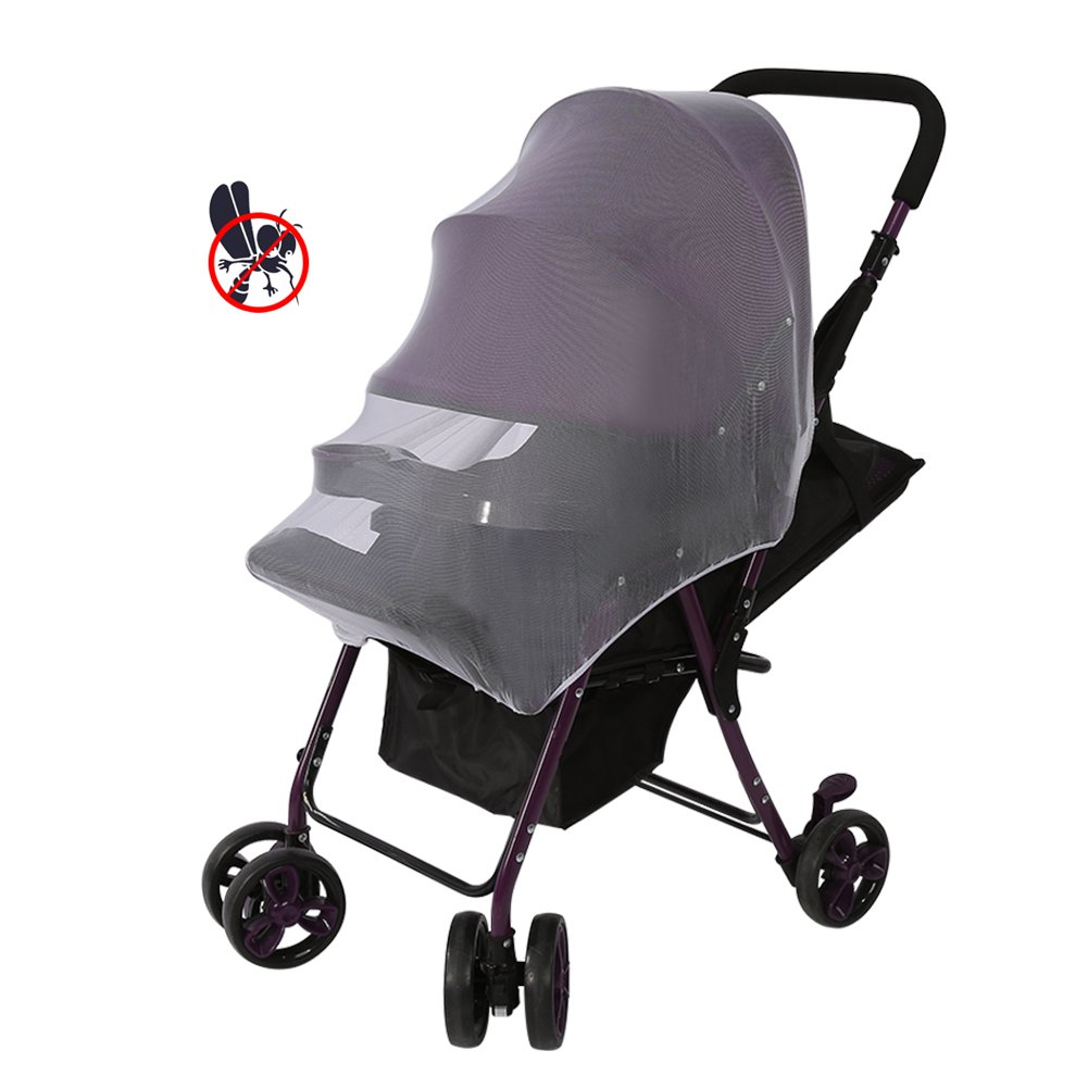 Yosoo Baby Mosquito Net Cart Full Cover Travel System Insect Netting Mosquito Insect Bee Bug Net for Baby Strollers, Bassinets, Cradles and Car Seats Safe Mesh