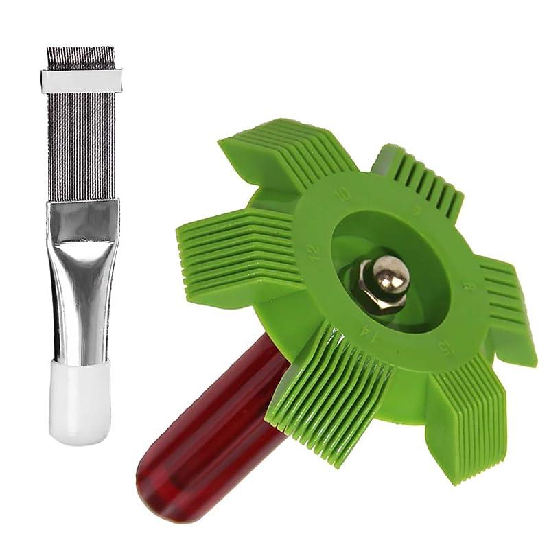 オンジョージスティーブンソン億2パックエアコンフィンツール付きコンデンサーフィン、ステンレススチール&プラスチック製のハンドル
