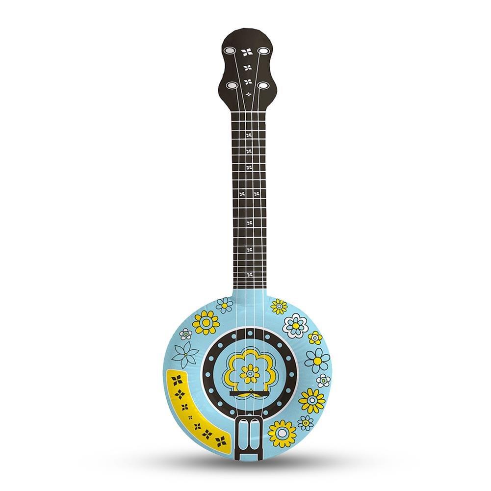 2 x hinchable Banjo Guitarra hippie Guitarra Flores Margaritas 88 ...