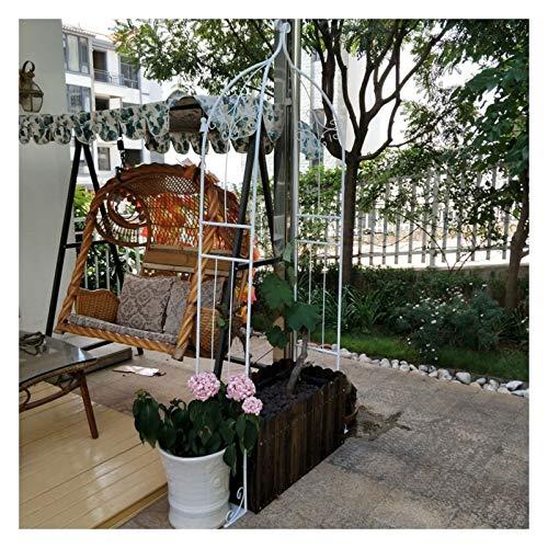 HLMBQ Arco de jardín Enrejado,Arcos de Flores para Boda Soporte para Enredaderas y trepadoras Fiesta Nupcial De Boda 205x30x80cm Negro