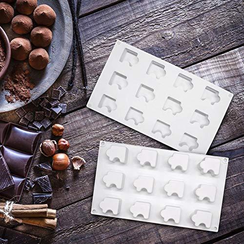 SHOH Siliconen Muffin Pan Bakvormen Driehoek DIY Chocoladetaart Cupcake Biscuit Zeep Bakvorm voor Whisky Ice Cube Maak 12 gaatjes reliable