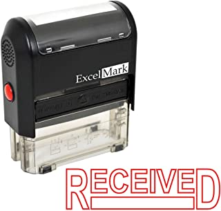 Received - ExcelMark Self-Inking Rubber Stamp - A1539 Red Ink