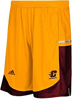 adidas Central Michigan Chippewas NCAA Mens Gold Climalite Modern Varsity Basketball Shorts