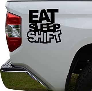 Rosie Decals JDM Eat Sleep Shift Japanese Die Cut Vinyl Decal Sticker For Car Truck Motorcycle Window Bumper Wall Decor Size- [6 inch/15 cm] Tall Color- Matte Black