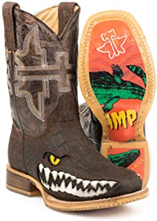 Tin Haul Swamp Chomp Boots Kid's Handcrafted