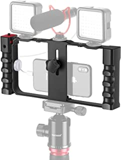 Neewer Smartphone Video Rig Stabilizer, 3 Cold Shoe &Tripod Mount for Vlogger Videomaker Film-Maker Compatible with iPhone...