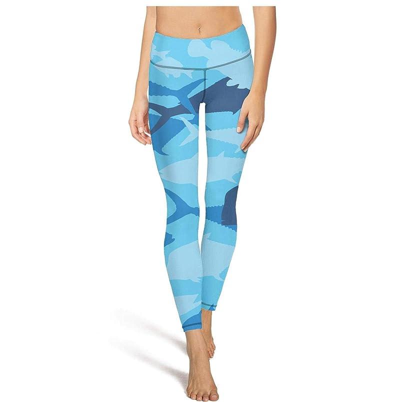 ZTUO Camouflage Camo Fish Yoga Legging Pants Womens Cute High Waist Biker with Pocket sg518023184