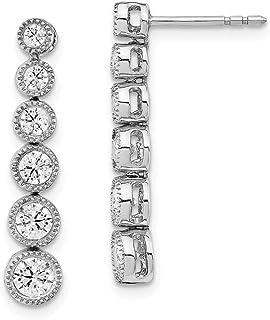 14k White Gold True Origin Lab Grown Diamond VS/SI, D E F, Fashion Dangle Post Earrings