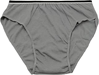 Starly Mens Cotton Disposable Underwear Travel Panties Handy Briefs Fitness Grey Gray(10pk)
