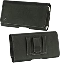 Horizontal Cellphone Belt Holster Bag Fit for Samsung Galaxy S10 5G, S10 Plus, J7 Refine, J7 Star, J7 V, A8s, A9s, J4 Plus, J6 Plus, A7, A9, Note 9, ZTE Blade Max View, Nubia X, Axon 9 Pro