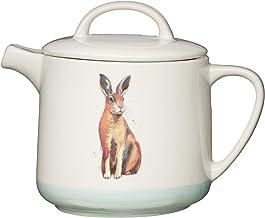 KitchenCraft Apple Farm ręcznie wykończony 'Harry Hare' 6 filiżanek ceramiczny dzbanek do herbaty / dzbanek do kawy, 1,4 l...