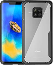 BAISRKE Huawei Mate 20 Pro Case, Slim Shock Absorption Protective Cases Soft TPU Rubber Bumper & Clear Hard Plastic Back Cover for Huawei Mate 20 Pro (Black)