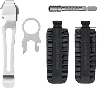 LEATHERMAN 931014 40-Bit Assortment Bit Drivers with Bit Driver Extension + Quick-Release Pocket Clip and Lanyard Ring