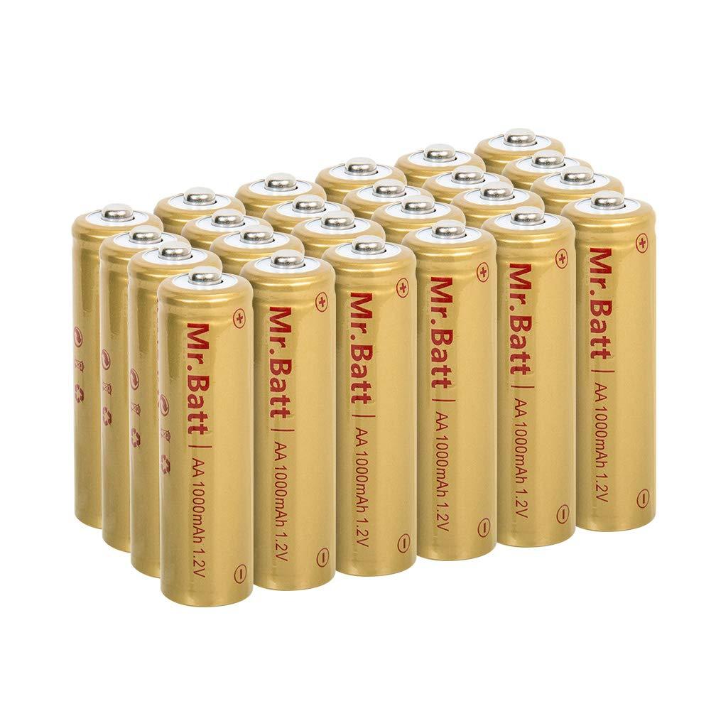 Mr Batt Rechargeable Batteries Lights 1000mAh