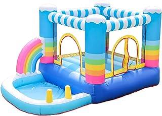 Castillo hinchable para niños Pequeño inflables hinchables Camas elásticas Casa Niños inflables Trampolines seguridad sin asperezas con el ventilador del juguete de la piscina Inflable casa de la desp